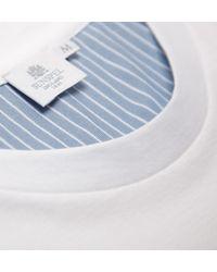 Sunspel - White Men's Long-staple Cotton Riviera T-shirt With Contrast Pocket for Men - Lyst