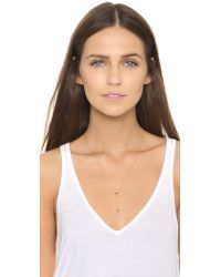 Tai - Black Lariat Necklace - Gold/jet - Lyst