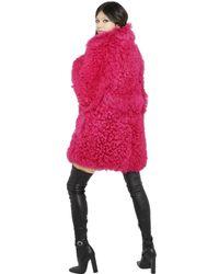 Emilio Pucci | Pink Shearling Coat | Lyst