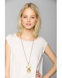 Vanessa Mooney - Metallic Spear Me Brass Necklace - Lyst