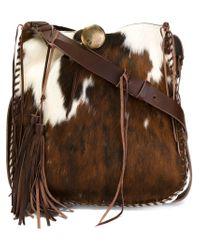 Ralph Lauren - Brown Whipstitch Artisanal Hobo Shoulder Bag - Lyst