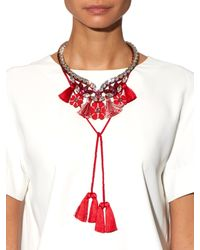 Shourouk | Red Apache Necklace | Lyst