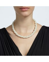 John Lewis - White Twisted Faux Pearl Necklace - Lyst