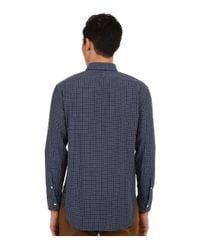 Billy Reid - Blue John T-shirt Button Up for Men - Lyst