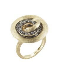 Marco Bicego | Metallic Pre-owned Jaipur Diamond Link Ring | Lyst