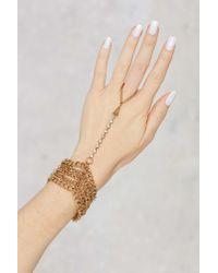 Nasty Gal | Metallic Soleil Chain Hand Piece | Lyst
