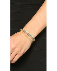 Sogoli | Purple Chain & Beaded Wrap Bracelet - Gold/lavender | Lyst
