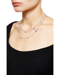 Buccellati | Metallic Long Sautoir Necklace With 18 Engraved Motifs In White Gold | Lyst