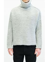 Blood Brother - Blue Battle Knit In Ice Grey for Men - Lyst