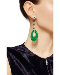 Nina Runsdorf | Green Jade And Diamond Earrings | Lyst