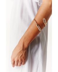 Planet Blue | Metallic Gemini Crystal Armband | Lyst