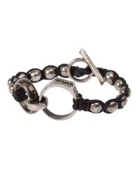 Tobias Wistisen - Black Ring Detail Bracelet for Men - Lyst
