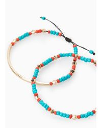 Violeta by Mango - Blue Bead Bracelet Set - Lyst