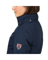 Tommy Hilfiger - Blue Down Coat - Lyst