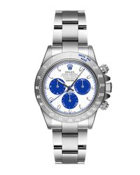 Bamford Watch Department | Metallic Technical Honeycomb White and Blue Dial with Super Matte Magnetic Light Grey Daytona | Lyst
