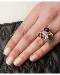 Monica Vinader | Metallic Silver Onyx Medina Facet Ring | Lyst