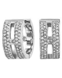 Michael Kors - Metallic Pave Maritime Huggie Earrings - Lyst