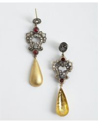 Amrapali - Metallic 'Victorian Collection' Diamond And Spinel Drop Earrings - Lyst