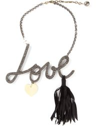 Lanvin - Gray Love Necklace - Lyst