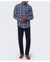 GANT | Blue The Hugger Shirt for Men | Lyst