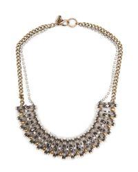 Mango | Metallic Bead Chain Necklace | Lyst