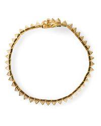 Eddie Borgo | Metallic Pave Pyramid Tennis Bracelet | Lyst