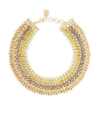 BCBGMAXAZRIA | Metallic Woven-chain Spike Necklace for Men | Lyst