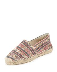 Isabel Marant - Multicolor Cana Printed Canvas Espadrille Flat - Lyst
