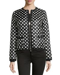 Moncler - Black Miel Polka-dot Puffer Jacket - Lyst
