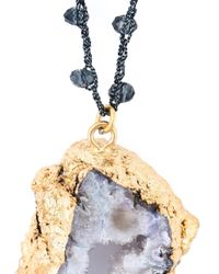 Katerina Psoma - Blue Faceted Stones Beaded Pendant Necklace - Lyst