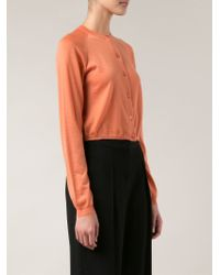 Marni - Orange Cropped Cardigan - Lyst
