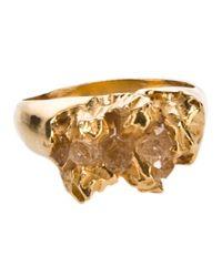 Niza Huang - Metallic 'Under Earthe' Chunky Ring - Lyst