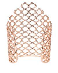 Alexis Bittar - Pink Rose Goldtone Barbed Link Cuff Bracelet - Lyst