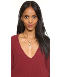 Lulu Frost | Metallic Wisteria Charm Necklace - Gold/pearl | Lyst