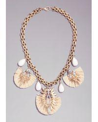 Bebe - Metallic Tassel  Pendant Necklace - Lyst
