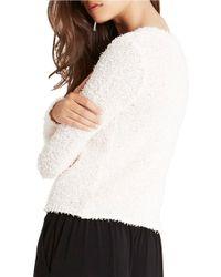 BCBGeneration | White V-neck Sweater | Lyst