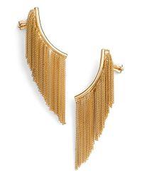 Rachel Zoe | Metallic 'remy' Fringe Ear Cuffs | Lyst