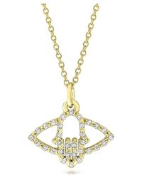 KC Designs | Metallic Brilliant By 14k Gold And Diamond Hamsa.evil Eye Necklace | Lyst