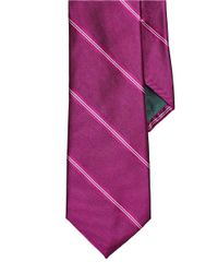 Lauren by Ralph Lauren | Pink Striped Silk Tie for Men | Lyst