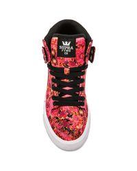 Supra - Pink Vaider High Top Sneaker - Lyst