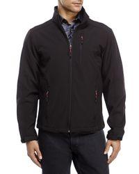 Izod - Black Soft Shell Jacket for Men - Lyst