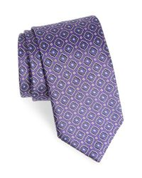 Canali - Purple Medallion Silk Tie for Men - Lyst