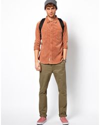 Native Youth - Orange Cord Shirt for Men - Lyst