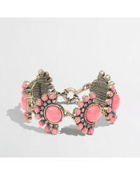 J.Crew | Pink Factory Dotted Fan Bracelet | Lyst