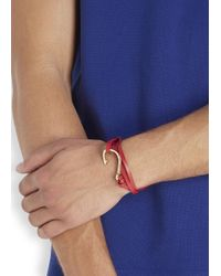 Miansai | Red Triple Wrap Leather Hook Bracelet for Men | Lyst