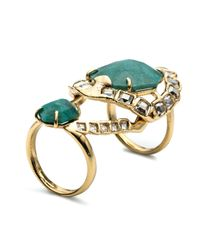 Alexis Bittar | Green Crystal Mosaic Hinged Cocktail Ring You Might Also Like | Lyst