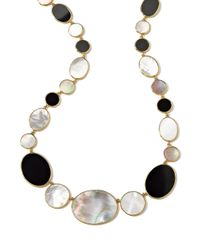 Ippolita | Black 18k Rock Candy Hero Station Necklace | Lyst
