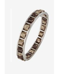 French Connection | Metallic Woven Leather Bangle | Lyst