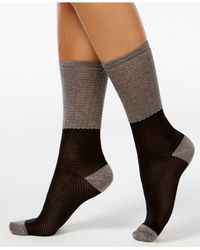 Vince Camuto | Black Women's Colorblock Trouser Socks | Lyst