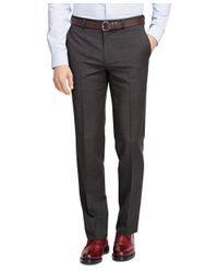 Brooks Brothers | Brown Fitzgerald Fit Wool And Mohair Check Trousers for Men | Lyst